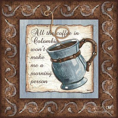 Painting - Whimsical Coffee 1 by Debbie DeWitt