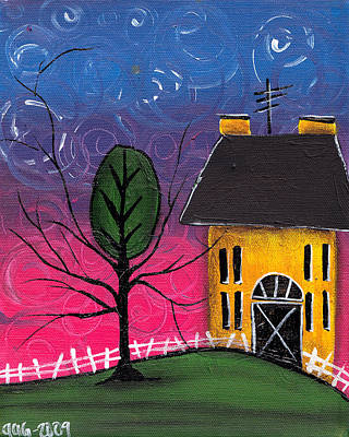 Whimsical Night Print by  Abril Andrade Griffith