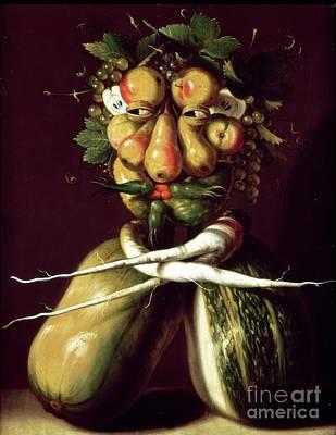 Whimsical Portrait Print by Arcimboldo