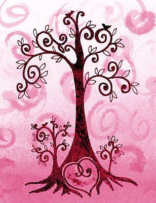 Brunch Painting - Whimsical Tree And Hidden Heart by Irina Sztukowski