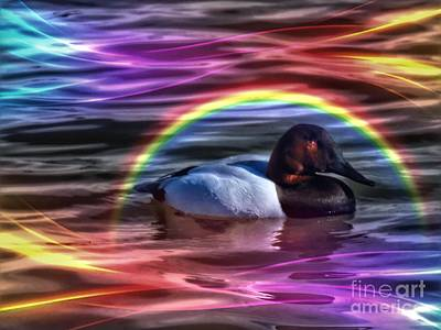 Bird Photograph - Whimsy Duck by Rrrose Pix