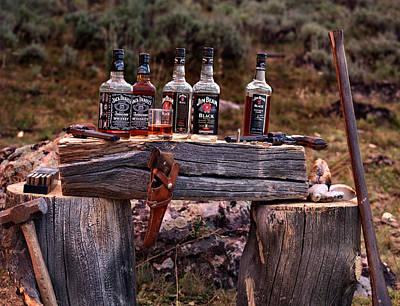 Booze Photograph - Whiskey And Guns by Leland D Howard