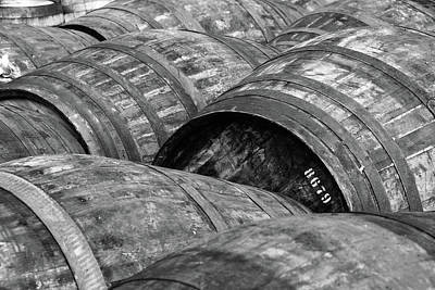 Black And White Photograph - Whisky Barrels by (C)Andrew Hounslea