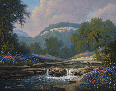Kyle Wood Painting - Whispering Creek by Kyle Wood