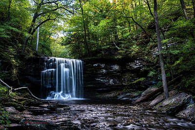 Fluid Photograph - Whispering Falls by Marvin Spates