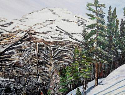 Whispering Pines Print by Marilyn  McNish