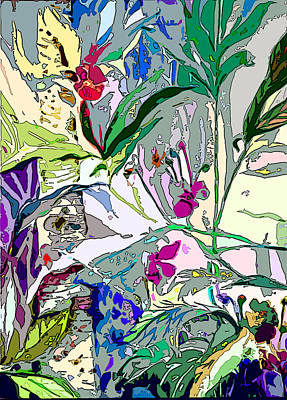 Lavender Drawing - Whispering Wind Flowers by Mindy Newman
