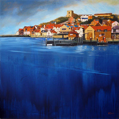 Church Painting - Whitby High Tide by Neil McBride
