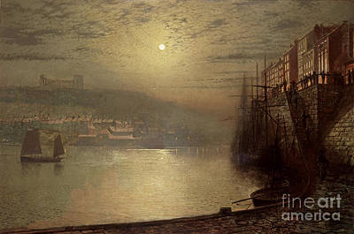Cobbles Painting - Whitby by John Atkinson Grimshaw