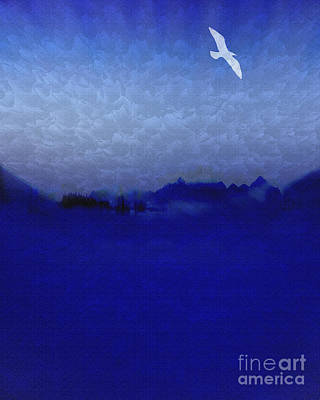 Book Title Digital Art - Out Of The Blue by Edmund Nagele