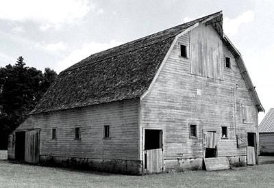 White Barn Print by Julie Hamilton