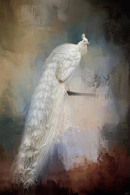 Peacock Photograph - White Beauty by Jai Johnson