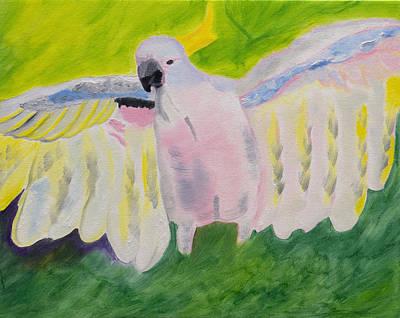 Pastel Feathered Cockatoo Original by Meryl Goudey