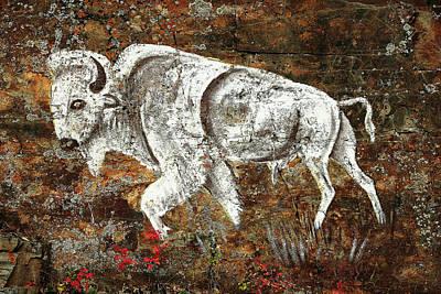 White Buffalo Print by Todd Klassy
