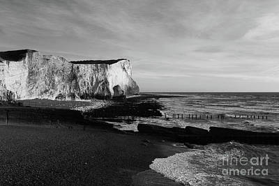 White Cliffs Of England At Seaford Head Print by James Brunker