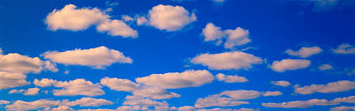 White Clouds In Blue Sky Print by Panoramic Images