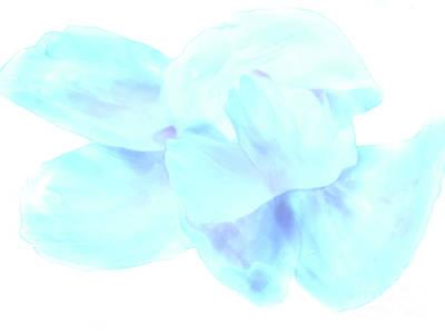 White Dance Print by Nat Air Craft