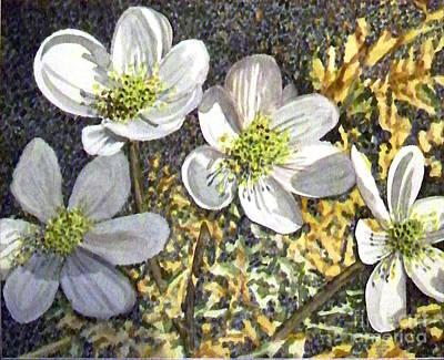 White Flowers Print by Jill Annette Johnson