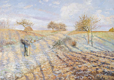 Morning Light Painting - White Frost by Camille Pissarro