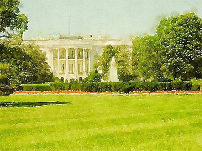 Digitized Image Photograph - White House by Howard Rose