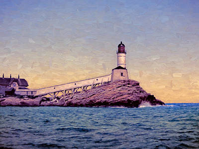Memories Painting - White Island Light by John K Woodruff