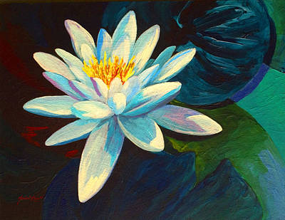 Koi Painting - White Lily IIi by Marion Rose