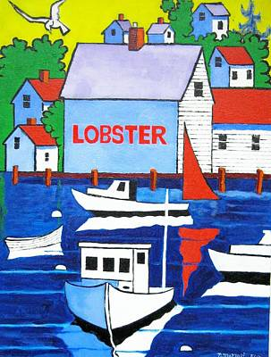 White Lobster Shack Original by Nicholas Martori