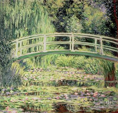 White Nenuphars Print by Claude Monet