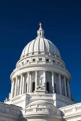 Madison Photograph - White On Blue by Todd Klassy