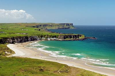 Portbraddon Photograph - White Park Bay On The Giants Causeway Coast Of County Antrim, Northern Ireland by David Lyons