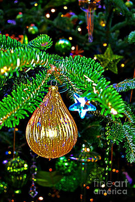 White Pear Shaped Ornament Print by Rich Walter