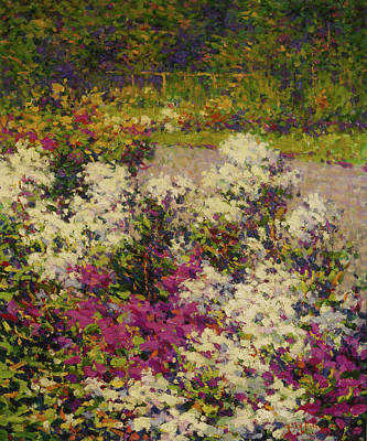Phlox Painting - White Phlox Hugh Henry Breckenridge 1906 by Movie Poster Prints