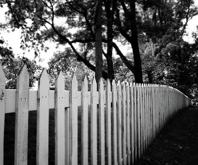 Black Country Photograph - White Picket Fence- By Linda Woods by Linda Woods