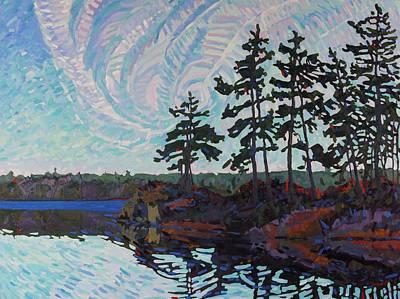 White Pine Island Original by Phil Chadwick