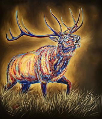 Western Painting - White Pine Sanctuary Bull by Teshia Art