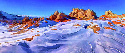 Manipulation Photograph - White Pocket Winter 2 by Bill Caldwell - ABeautifulSky Photography