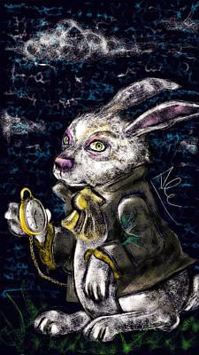 White Rabbit Print by Alessandro Della Pietra