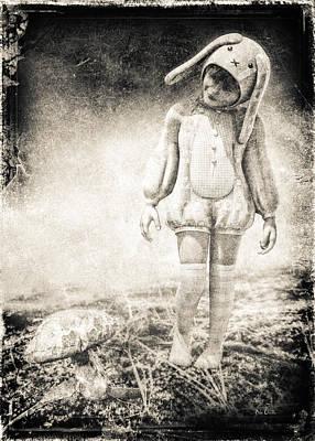 Horror Photograph - White Rabbit by Bob Orsillo