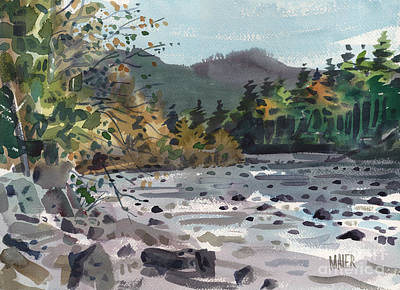 White River In Autumn Print by Donald Maier
