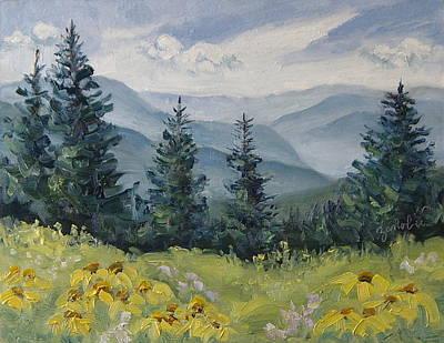 White River Valley Colorado Print by Zanobia Shalks