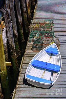 White Rowboat Print by Diane Diederich