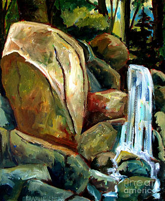 White Tail Falls Print by Charlie Spear