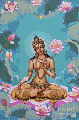 Tibetan Buddhism Painting - White Tara by Yuliya Glavnaya