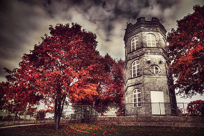 Helsinki Finland Digital Art - White Tower Of Autumn by Sandra Rugina