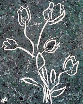 White Tulips Print by Jilian Cramb - AMothersFineArt