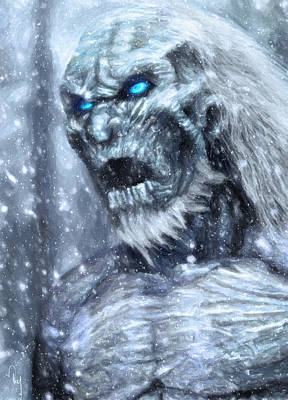 Zombies Photograph - White Walker by Taylan Apukovska
