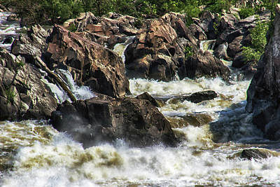 Nature Photograph - White Water On The Potomac by Tom Gari Gallery-Three-Photography
