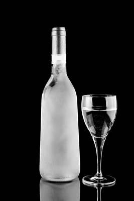 White Wine Frozen Print by Toppart Sweden