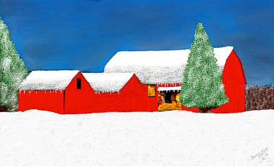 Barn Painting - White Winter Wonderland by Bruce Nutting
