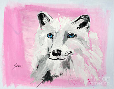 Wolf Painting - White Wolf - Animal Art By Valentina Miletic by Valentina Miletic